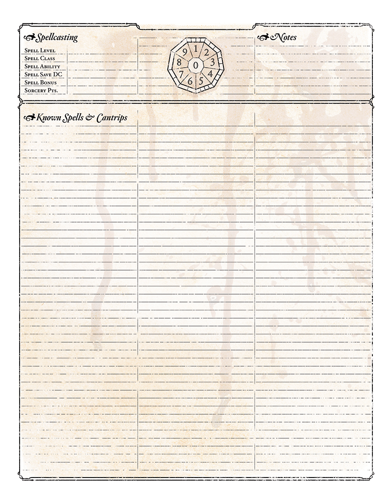 Preview of Bitterhusk's D&D Character Sheet