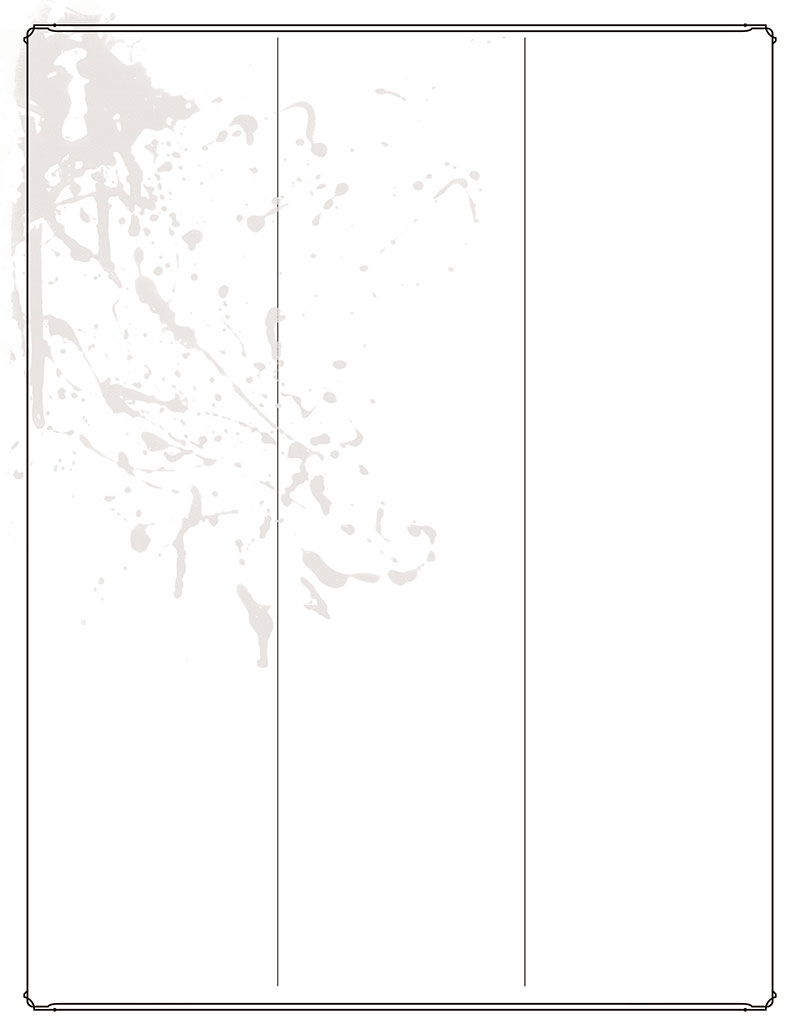 Bitterhusks Dungeons and Dragons, 5th Edition Character Sheet, unruled PDF, page 3